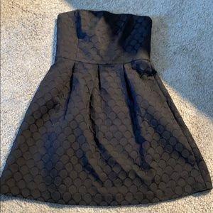 White House Black Market Strapless Dot Dress
